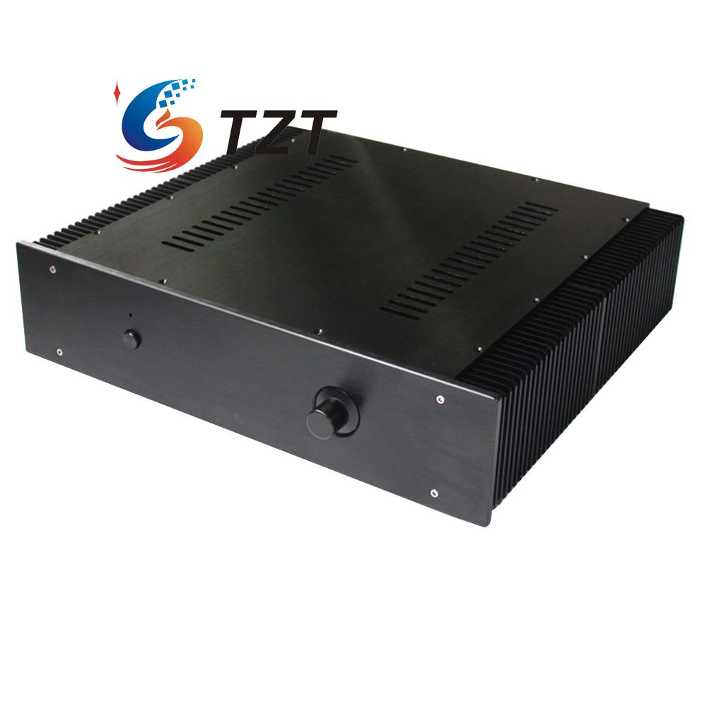 Audio Amplifier Chassis Shell Case Enclosure Box Aluminum 430x456x113mm WA43 250 toasted brown