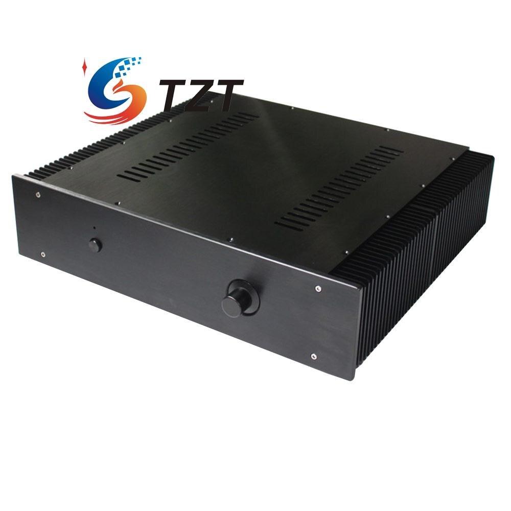 Chasis Del Amplificador de Audio Shell Caso Caja Caja De Aluminio 430x456x113mm