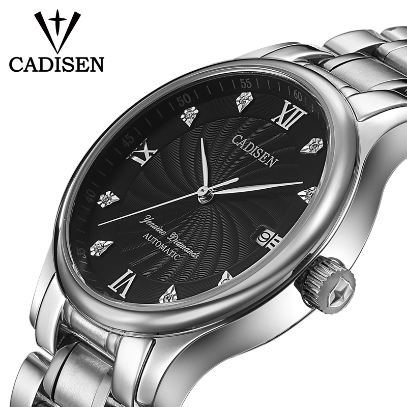 CADISEN Watch Men Luxury Automatic Mechanical Watches Stainless steel Waterproof Men Business Watch Male Clock Relogio Masculino цены
