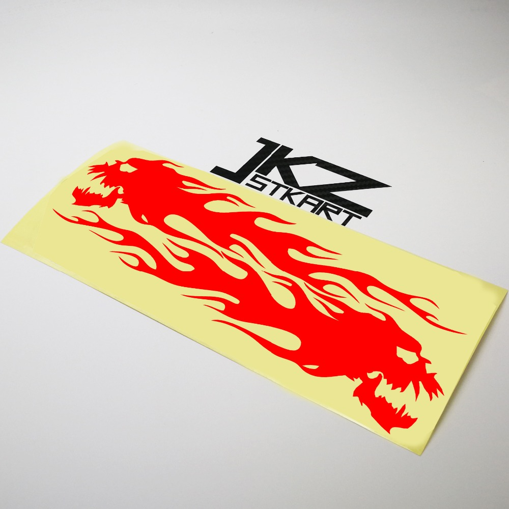 Jkz Stkart Vinyl Die Cut Car Stickers Decals A Pair Of Skull Flame 20 X 9 Cm Motor Bike Truck Helmet Decorated Stickers Dependable Performance Car Stickers