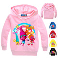 New 2017 Children Spring Clothing Trolls Hoodies Sweatshirts Girls Terry Cotton Topwear Kids Long Sleeve Sweater Boys Outerwear