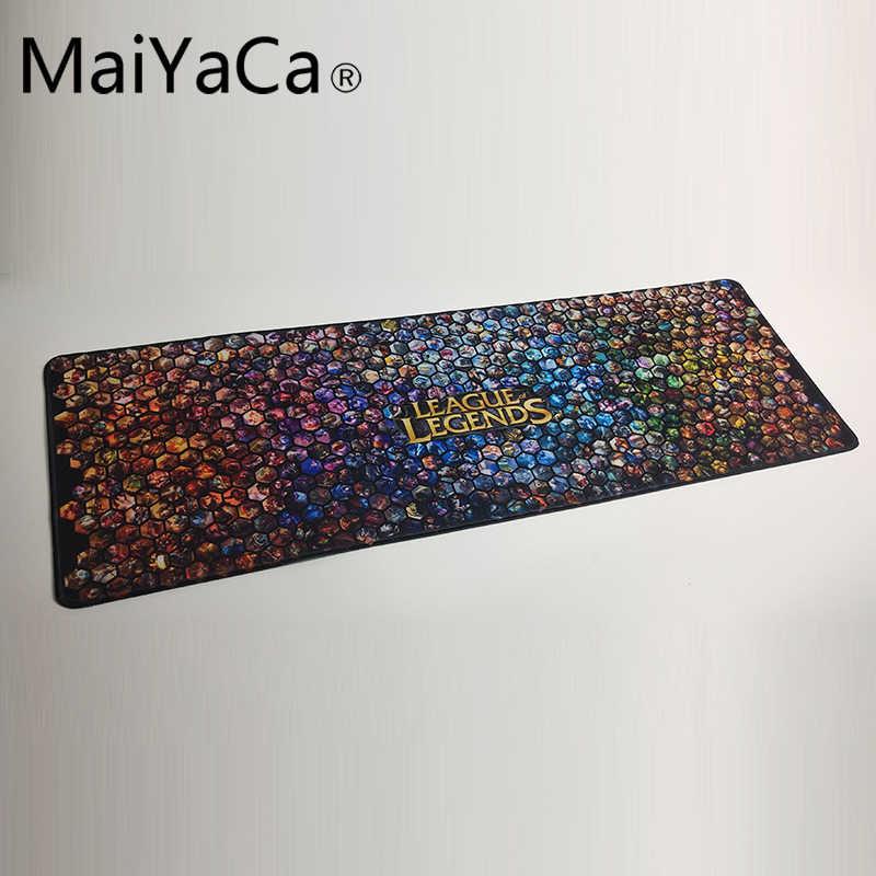 MaiYaCa ลีกของตำนานแผ่นรองเมาส์ล็อคขอบเมาส์แผ่นรองเมาส์คอมพิวเตอร์แผ่นรองเมาส์ 90x30 เซนติเมตรเกม Padmouse เม้าส์ผู้ขายที่ดีที่สุด