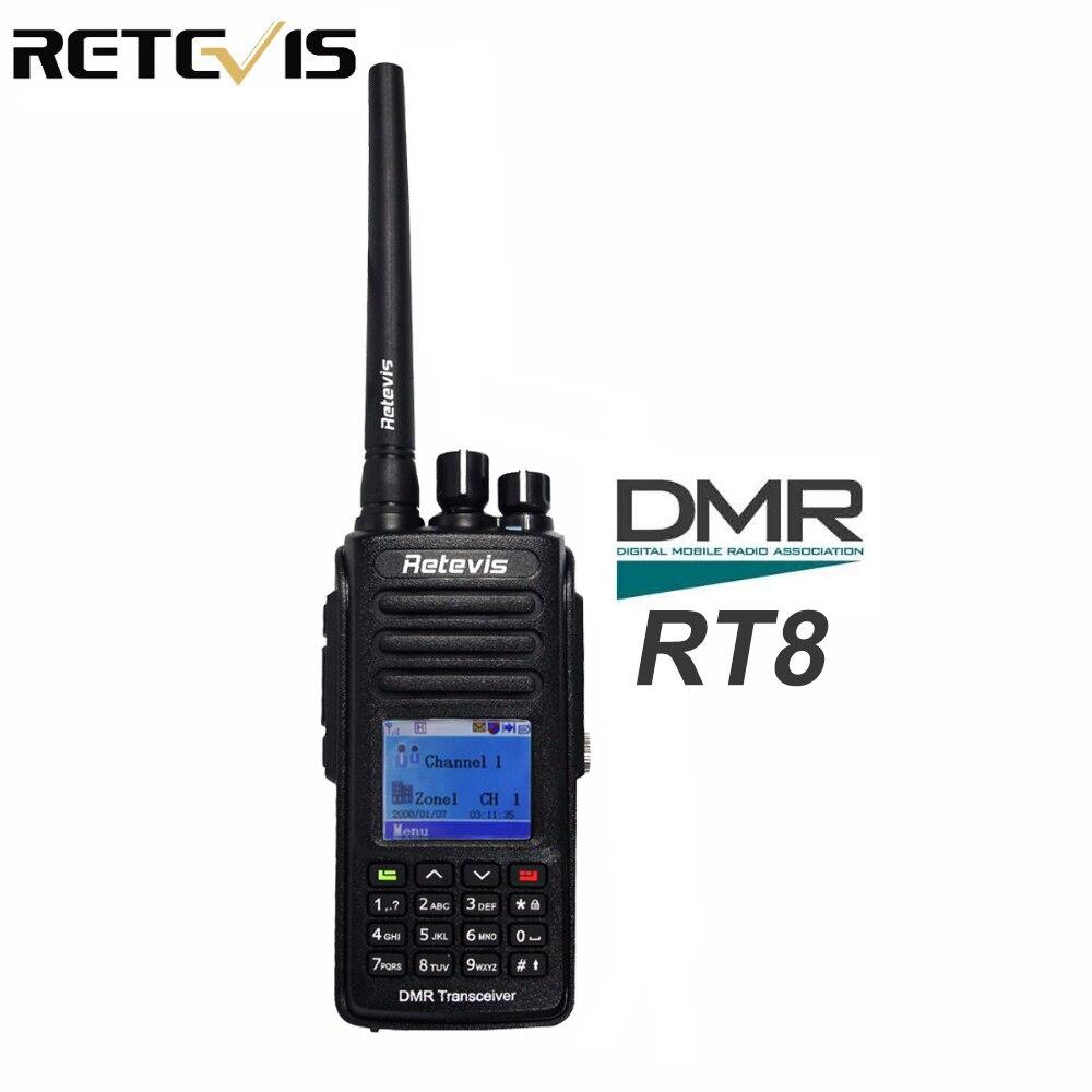 DMR Radio Digital Walkie Talkie Retevis RT8 IP67 Waterproof UHF 400-480Mhz 5W Ham Radio HF Transceiver A9115DMR Radio Digital Walkie Talkie Retevis RT8 IP67 Waterproof UHF 400-480Mhz 5W Ham Radio HF Transceiver A9115