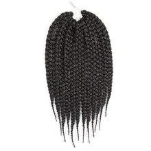 Feibin Вязание Крючком Твист коробка коса Наращивание волос синтетический афро плетение волос Термостойкое волокно
