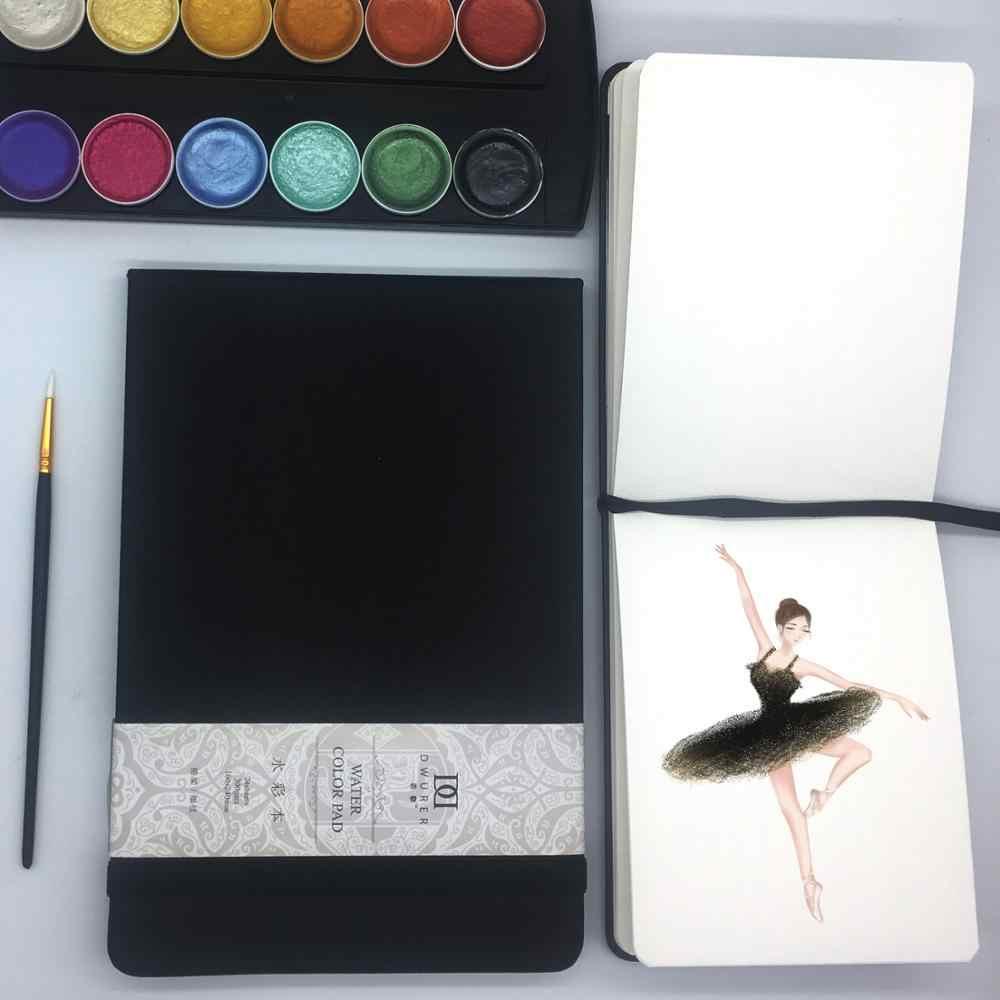 Dorerart watercolor notebook 50% algodão mão-pintura água cor caderno 24 folha 300gsm livros para escritório escola arte suprimentos