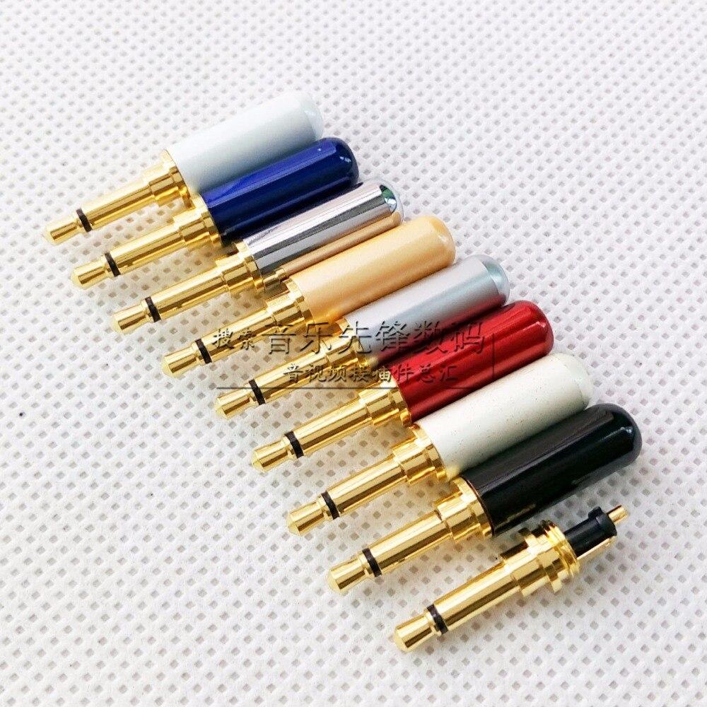 10pcs Unique new 3.5 mono plug gold-plated copper 3.5 mono unscaled head Sergio