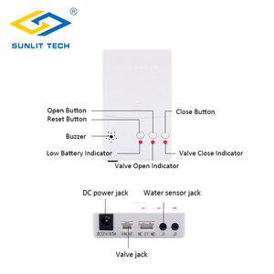 Image 3 - Water Leak Detector Alarm System with 2pcs DN15 DN20 DN25 BSP NPT Valve Water Leakage Flood Sensor Alter Overflow Home Security