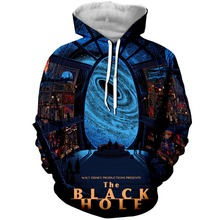 YX GIRL 3D Print Black Hole Mens Hoodies Sweatshirt With Hat Pocket Men Autumn Spring Tracksuit Pullover Dropshipping