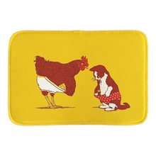 Cute Animals Doormat Cat And Chicken Show Me Yours And I ll Show You Mine Door