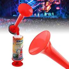 Bomba de ar push portátil alto chifre cheerleading festa de futebol eventos esportivos alto falante torcendo esquadrão trompete crianças brinquedo bomba