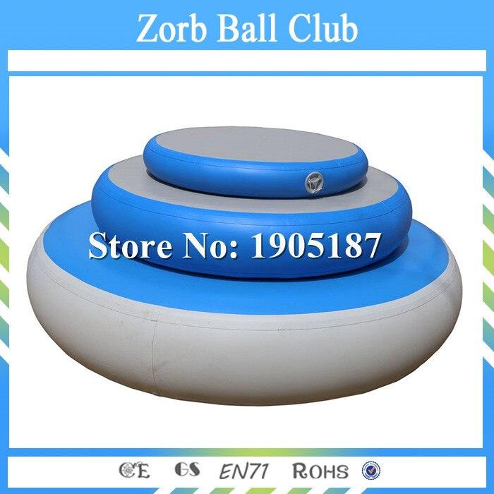 Livraison gratuite 20 cm hauteur gonflable piste d'air culbutant cercle Mat Air Spot à vendre