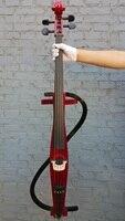 1707 4 4 New Electric Cello Solid Wood Body Silent Purple Cello Bag Rosin