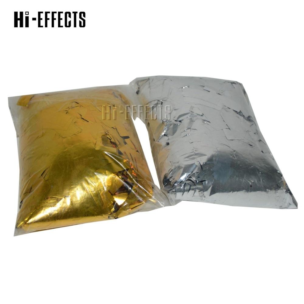 2 KG/lot or et argent Mylar confettis papier métallisé confettis papier scène effet spécial pour Machine à confettis dans le salon de mariage