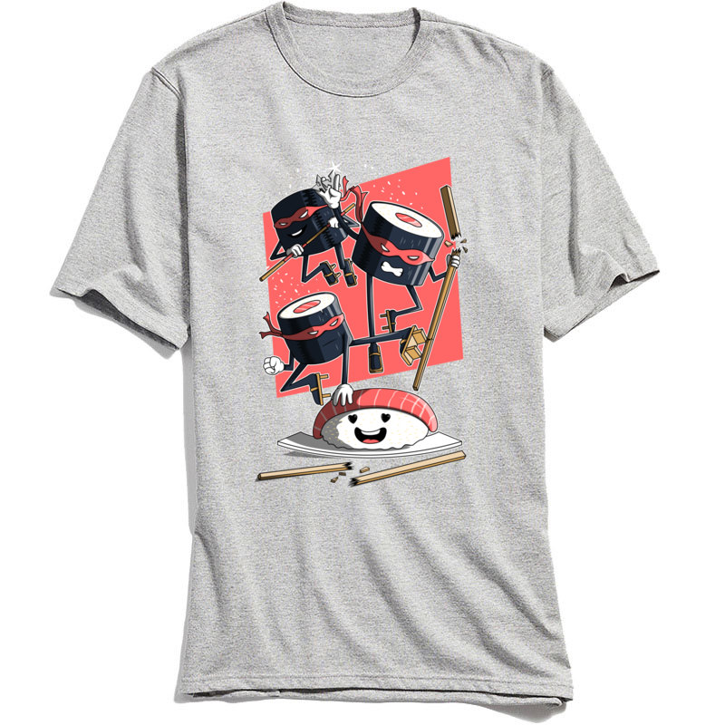Sushi Defenders T-Shirt for Male Men Funny Tshirt Summer Tees Short Sleeve Latest Party Top T Shirt Cotton Fabric Ninja Clothing