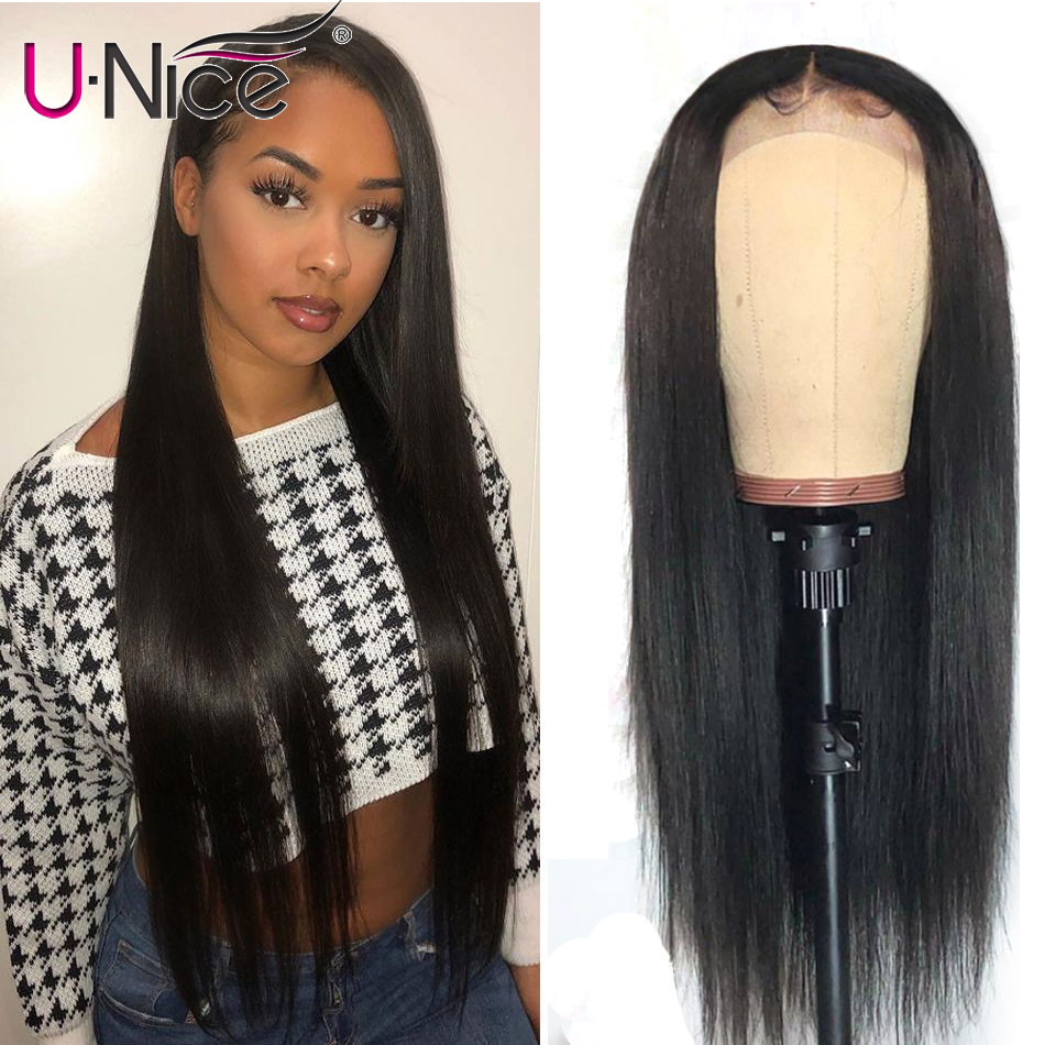 "Unice Hair Bettyou Wig Series Brazilian Straight 13*4 Lace Front Human Hair Wigs Remy Human Hair Wigs For Black Women 12-26""(China)"