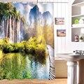 180*180cm Anpassen 3D Dusche Vorhänge Wasserfall landschaft Muster Wasserdichtes Gewebe Bad Vorhang Waschbar Bad Produkte|fabric bathroom curtains|shower curtainshower curtain pattern -