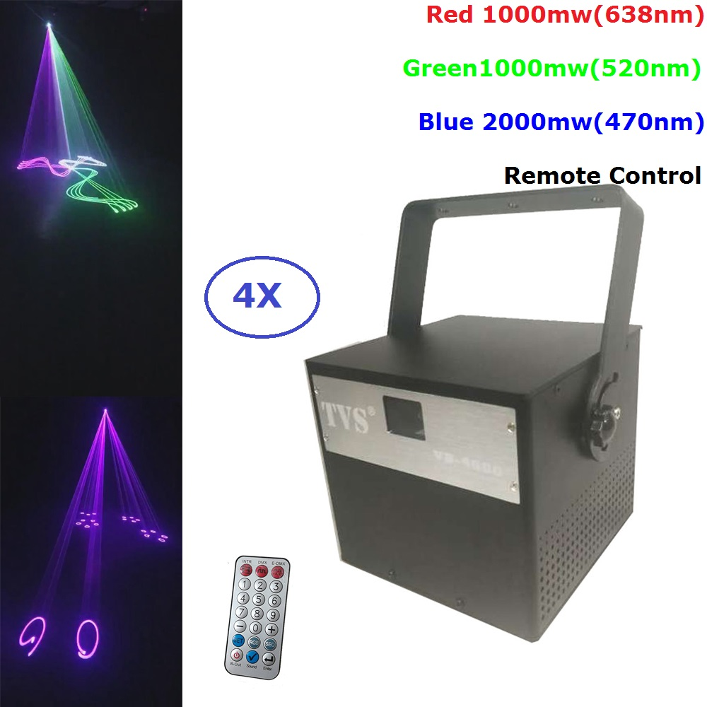 4XLot Newest 4W RGB Full Color Laser Light DMX ILDA Animation Laser Projector Stage Lighting Professional DJ Show Scanner Light4XLot Newest 4W RGB Full Color Laser Light DMX ILDA Animation Laser Projector Stage Lighting Professional DJ Show Scanner Light