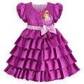 Новый Ограниченной Vestidos Infantis Летние Новорожденных Девочек Дети детская Одежда Одежда Платья Платье С Короткими Рукавами Принцесса