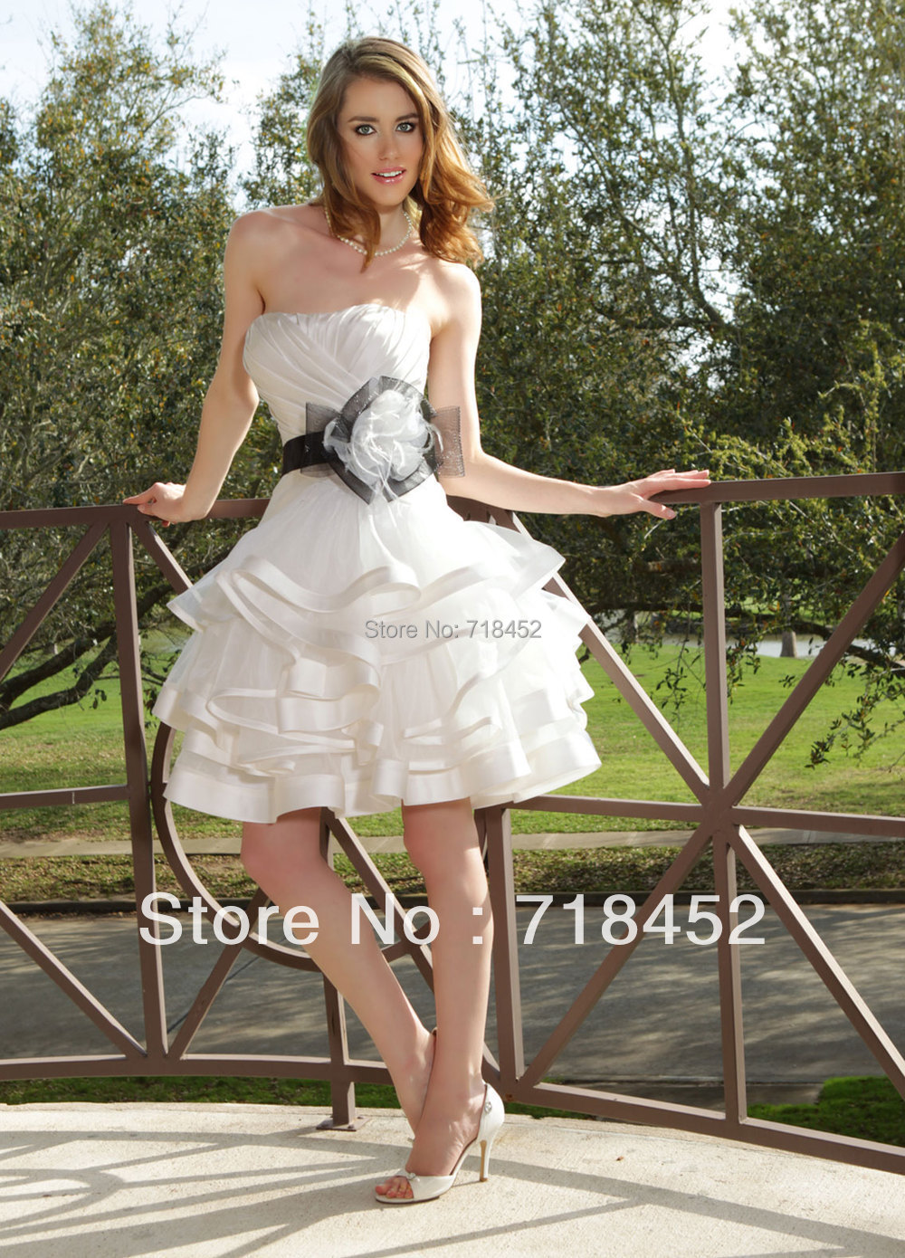 2013 free shipping hot sale short wedding dress white for Short wedding dress sale