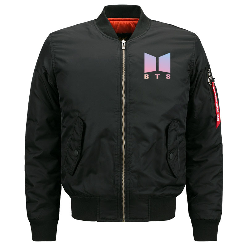 Funny Kpop BTS Quilted Bomber Jacket for Women Cute Ladies Bangtan Boys Rap Monster Fans Streetwear Jackets Oversized S-5XL