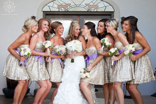Sparkly Strapless Backless Gold Sequins Mini Short Bridesmaid Dresses Cheap Gowns For Wedding