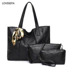 women leather handbags 3 sets handbag women composite bag female High Quality Woman Totes fashion handbags 2017