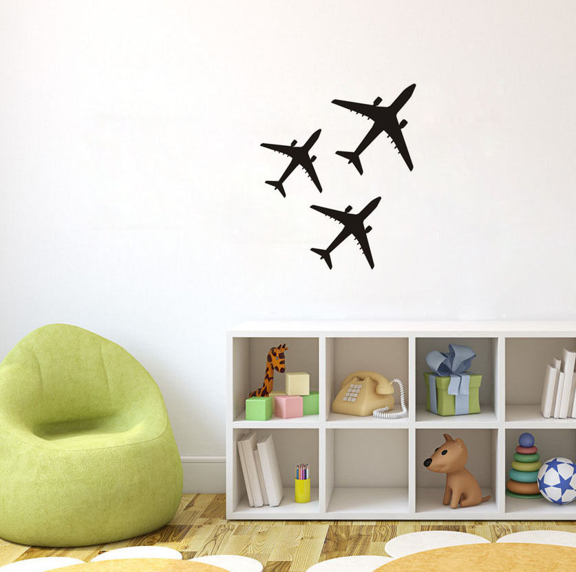 C020 Three Airplanes Plane Aircraft Wall Decal Room Decor Home Vinyl - Διακόσμηση σπιτιού