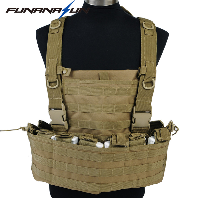 Military Tactical Molle Vest with Hydration Magazine Pouch Shooting Chest Rig Airsoft Assault Combat Body Ammor Harness 011604 tmc transformers cqb lbv molle vest military airsoft paintball combat assault cs field protection vest free shipping