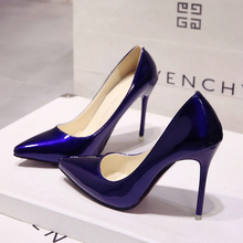 2018 HOT Women Shoes Pointed Toe Pumps Patent Leather Dress  High Heelsd