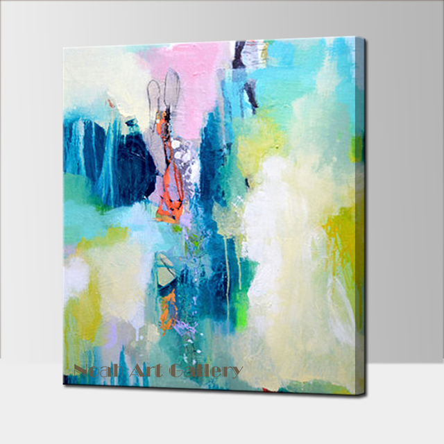 Decorative Abstract Painting 100% Hand Painted Simple Abstract Acrylic Wall  Art Decorative Ideas For Home
