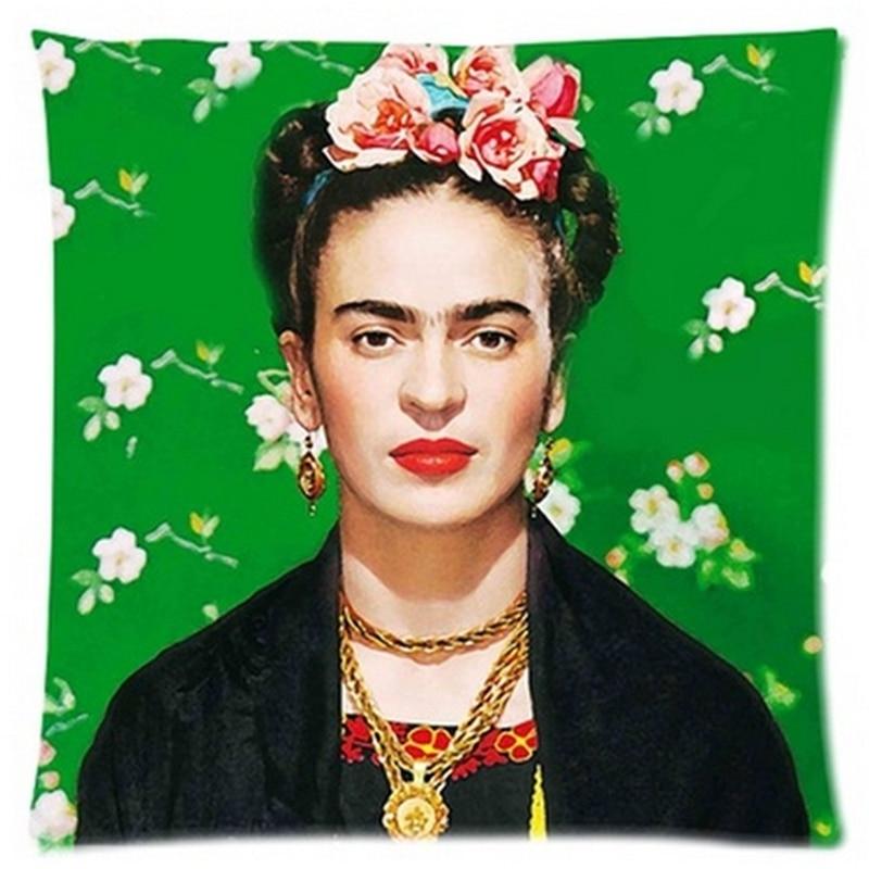 Estremamente Cuscino Frida Kahlo Federa Ferma Fiore self portrait Divano  SM42