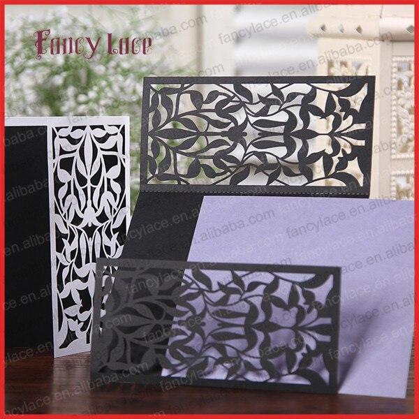 wholesale elegant design laser cut paper invitation card wedding