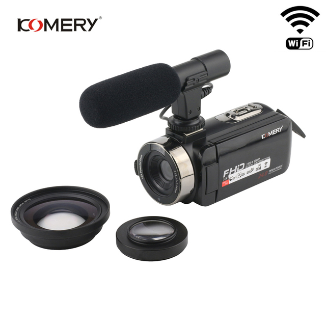 KOMERY Video Camera 1080P Full HD Portable Digital Video Camera 16X Digital Zoom 3.0 Inch Touch LCD Screen Camcorder With Wifi 1