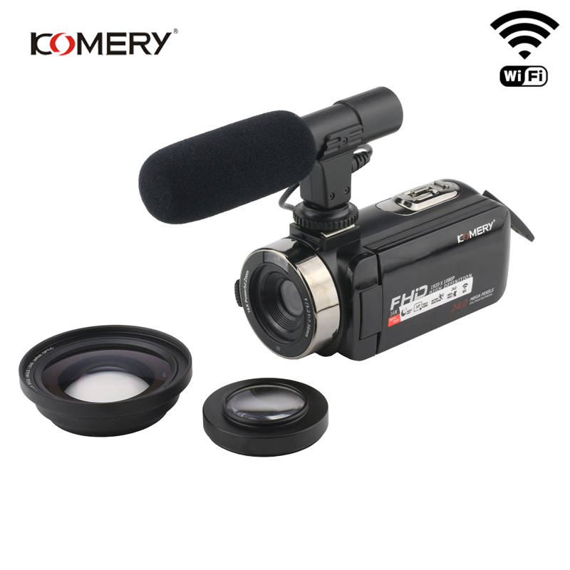 все цены на KOMERY Video Camera 1080P Full HD Portable Digital Video Camera 16X Digital Zoom 3.0 Inch Touch LCD Screen Camcorder With Wifi онлайн