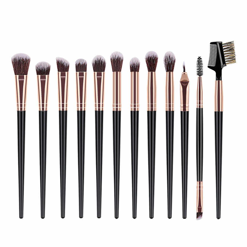 12 pièces fond de teint pinceaux de maquillage cosmétique sourcil fard à paupières brosse poudre correcteur maquillage pinceaux pincel maquiage