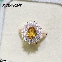 KJJEAXCMY Fine jewelry Popularne T diamond ring 925 srebro inkrustowane naturalne cytryn kobieta pierścień hurtownie