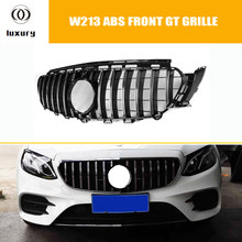 W213 GT Front Bumper Mesh Grill Grille for Mercedes Benz W213 E-class E200 E260 E300 E320 E350 E43 Sports Bumper (no star logo)(China)