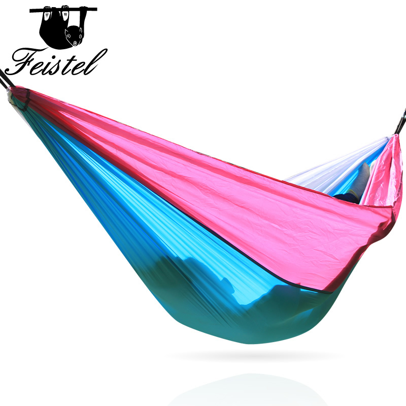 Portable Nylon  Hammock Garden Outdoor Camping Chair Travel Furniture Swing Sleeping Bed