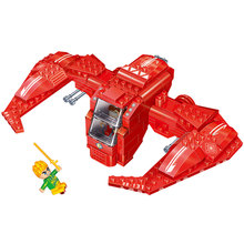 [small particles] buoubuou assembled block children's toy spaceship Space Battleship 6411 hook
