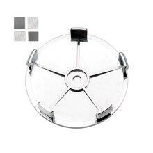 4pcs Carbon  Black with Gray 68mm Car Wheel Center Cap Hubcaps For E46 E39 E90 E53 E52 E60 F34 F20 F10 E91 X3 Hub Sticker