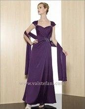 free shipping 2013 new arrival maxi design vestidos de fiesta colorful purple long chiffon beaded elegant party evening dresses