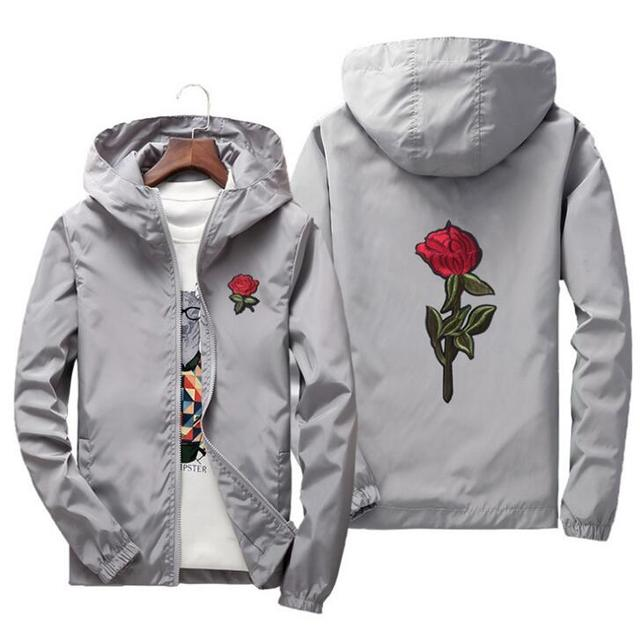 jacket windbreaker men women rose college jackets 8 clolors 5