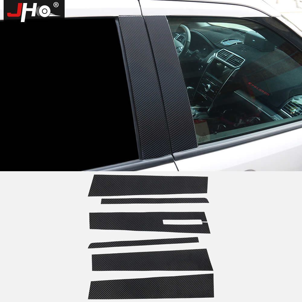 JHO B Window Pillar Post Protector Sticker For Ford Explorer 2016 2017 2018 3D Carbon Fiber Grain Trim Exterior Car Accessories|Car Stickers| |  - title=