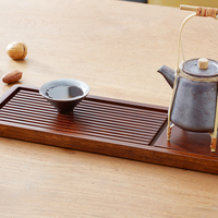 ZEN'S BAMBOO Tea Tray Coffee Serving Chinese Tray Kung Fu Tea Tray Traveling Portable Bamboo Teapot Trivets