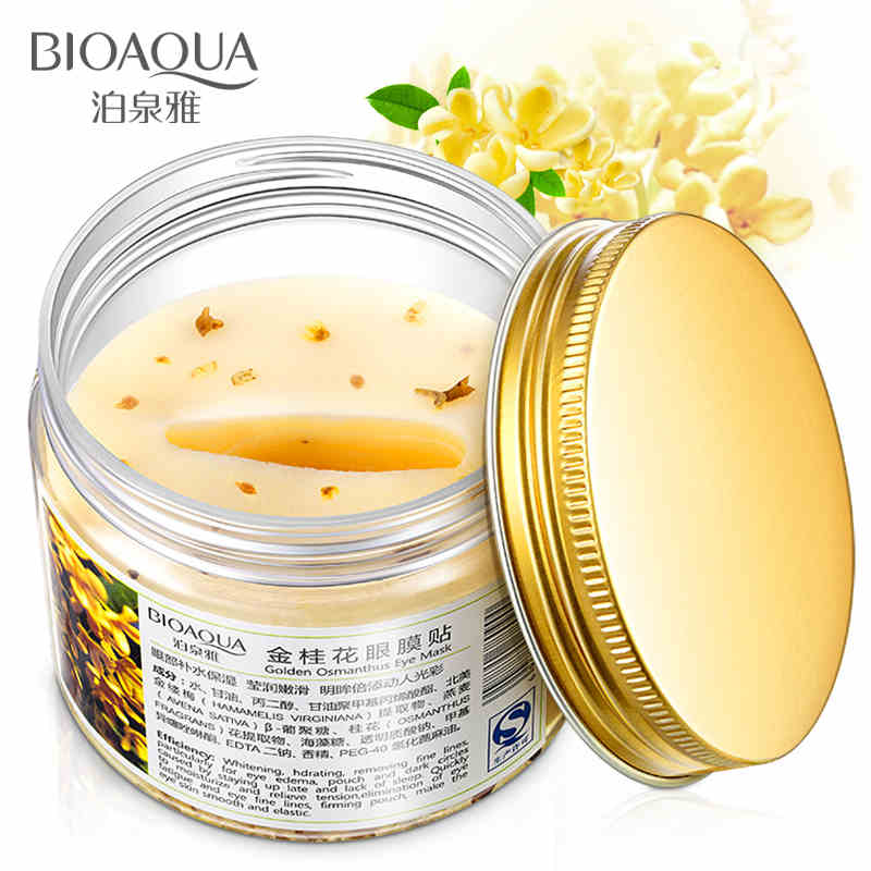 New Arrivals BIOAQUA Gold Osmanthus Eye Mask Women Collagen Gel Whey Protein Face Eye Patch Whitening And Moisturizing Skin Care