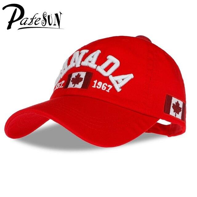Nueva llegada de algodón gorras gorra de béisbol de canadá bandera de canadá  adjuatable del sombrero 50ef003cf7e