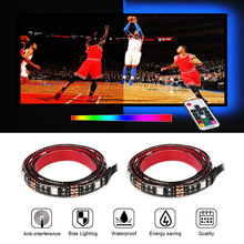 "2X19.7"" USB TV LED Strip 5050 RGB Flexible Backlight TV Kit Flat Screen LCD Desktop Computer LED TV Backlighting"