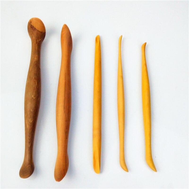 5 pièce/ensemble argile sculpture Fimo argile figurines sculpture outils jouet pour enfants buis fait