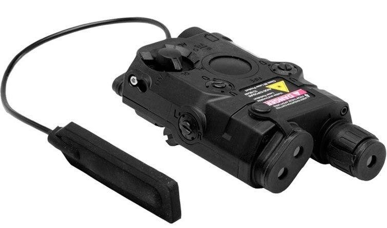 BATTLEAXE AN/PEQ-15 LAM блок ж/Встроенный лазер и фонарик(Черный DE - Цвет: Черный