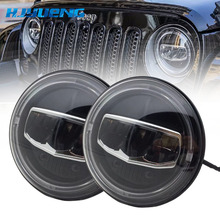 2PCS 7 Inch Led Headlights DRL & Amber Turn Light & Hi/Lo Beam for Jeep Wrangler JK TJ LJ CJ Rubicon Sahara Unlimited Hummer 2pc 7 inch 80w round led headlights kit with angel eye drl amber turn signal lights for jeep wrangler jk cj lj 7inch headlight